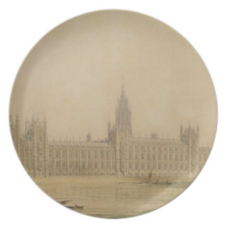 Perspective View of the new Houses of Parliament, Melamine Plate