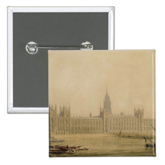 Perspective View of the new Houses of Parliament, Pinback Button