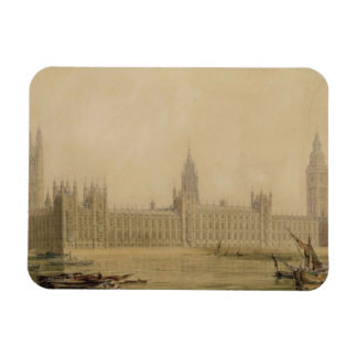 Perspective View of the new Houses of Parliament Rectangular Magnet