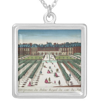 Perspective view of the Palais Royal Silver Plated Necklace
