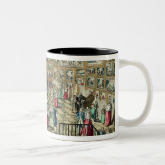 Perspective View of the Salon of the Royal Academy Two-Tone Coffee Mug