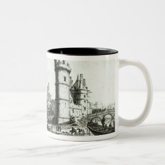 Perspective view of the Tour de Nesle Two-Tone Coffee Mug