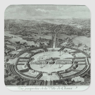 Perspective View of the Town of Chaux, c. 1804 Square Sticker