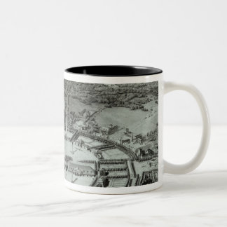 Perspective View of the Town of Chaux, c. 1804 Two-Tone Coffee Mug