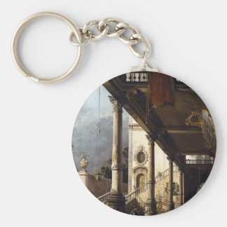 Perspective View with Portico by Canaletto Key Chains
