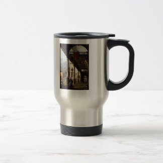 Perspective View with Portico by Canaletto Coffee Mug