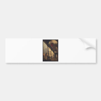 Perspective with a Portico by Canaletto Bumper Sticker