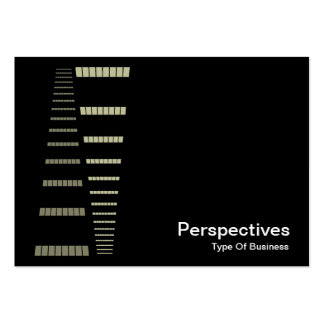 Perspectives - Cream and White on Black Business Cards