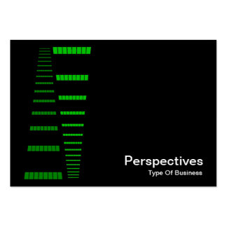 Perspectives - Green and White on Black Business Cards
