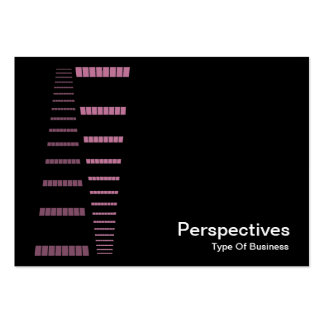 Perspectives - Pink and White on Black Business Card Templates