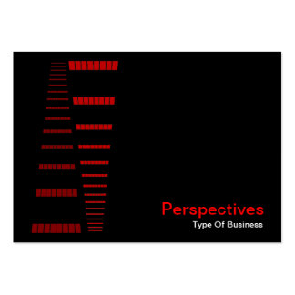 Perspectives - Red and White on Black Business Card Templates