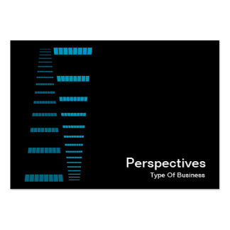 Perspectives - Sky Blue and White on Black Business Cards
