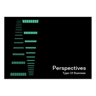 Perspectives - Turquoise and White on Black Business Card Templates