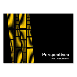 Perspectives v2 - Amber and White on Black Business Card Template