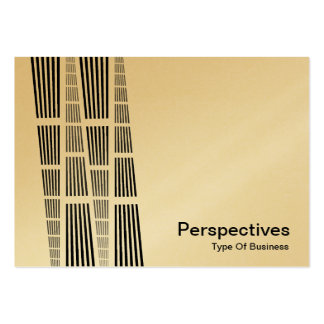 Perspectives v2 - Black and White (Gold) Business Cards