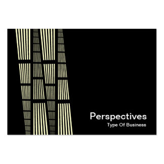 Perspectives v2 - Cream and White on Black Business Card
