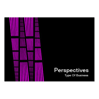 Perspectives v2 - Magenta and White on Black Business Cards