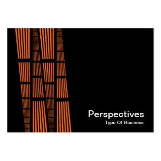 Perspectives v2 - Orange and White on Black Business Cards