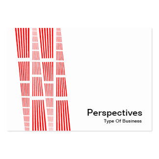 Perspectives v2 - Red and Black on White Business Card Template