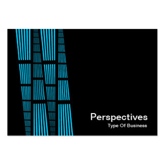 Perspectives v2 - Sky Blue and White on Black Business Cards