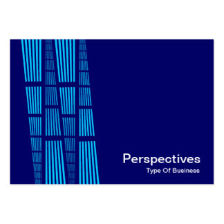 Perspectives v2 - Sky Blue and White on Deep Navy Business Cards