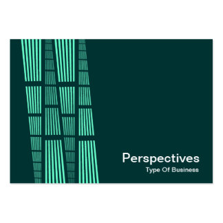 Perspectives v2 - Turquoise and White on Dark Teal Business Card Templates