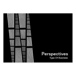 Perspectives v2 - White on Black Business Card Templates