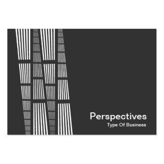 Perspectives v2 - White on Dark Gray Business Cards