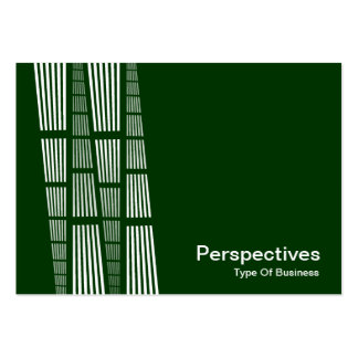 Perspectives v2 - White on Dark Green Business Card Template