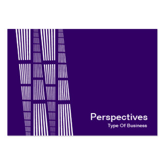 Perspectives v2 - White on Deep Purple Business Card Templates