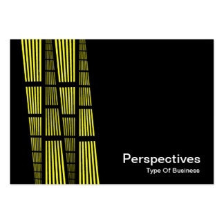 Perspectives v2 - Yellow and White on Black Business Card Template