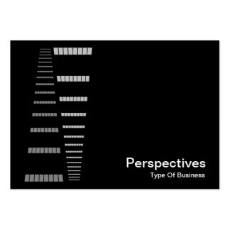 Perspectives - White on Black Business Cards