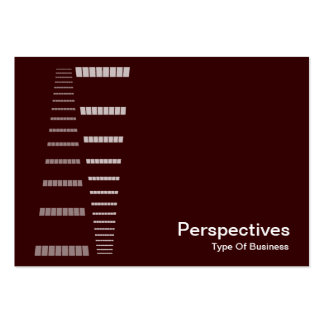 Perspectives - White on Dark Brown Business Card Templates