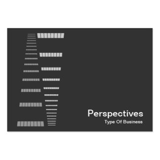 Perspectives - White on Dark Gray Business Cards