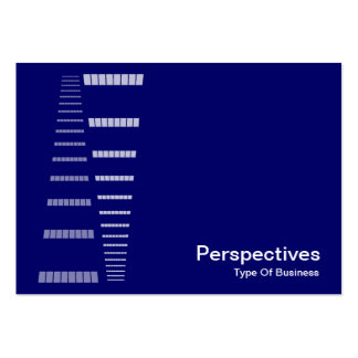 Perspectives - White on Deep Navy Blue Business Card Templates