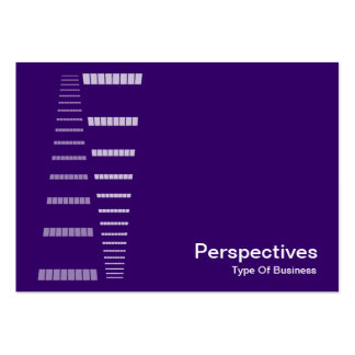 Perspectives - White on Deep Purple Business Card Templates