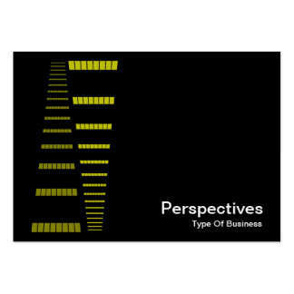 Perspectives - Yellow and White on Black Business Card