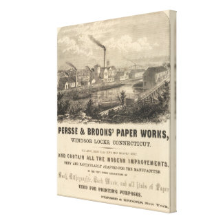 Persse and Brooks' Paper Works Stretched Canvas Print
