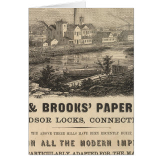 Persse and Brooks' Paper Works Greeting Card