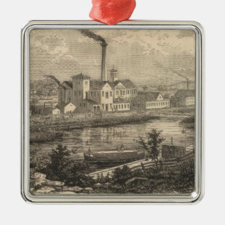 Persse and Brooks' Paper Works Square Metal Christmas Ornament