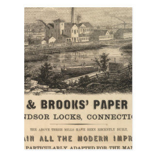 Persse and Brooks' Paper Works Postcard