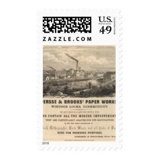 Persse and Brooks' Paper Works Stamps