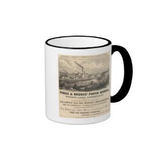 Persse y los trabajos de papel de los arroyos taza de café