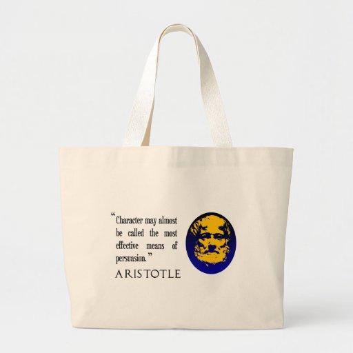 Persuasión, bolso de la cita de Aristóteles Bolsas De Mano
