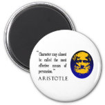 Persuasión, carácter, imán de la cita de Aristótel