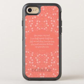Persuasion Jane Austen Floral Love Letter Quote OtterBox Symmetry iPhone 7 Case