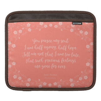 Persuasion Jane Austen Floral Love Letter Quote Sleeve For iPads
