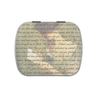 Persuasion Letter Candy Tins