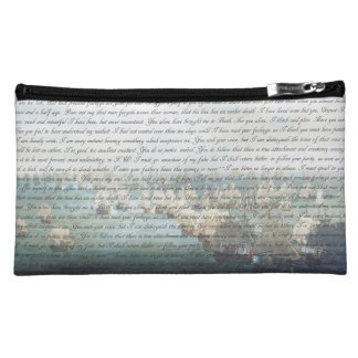 Persuasion Letter double-sided Cosmetic Bag