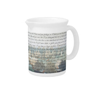 Persuasion Letter Drink Pitcher